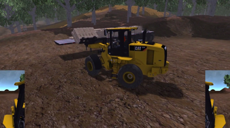 Small Wheel Loader - Forks Work Tool