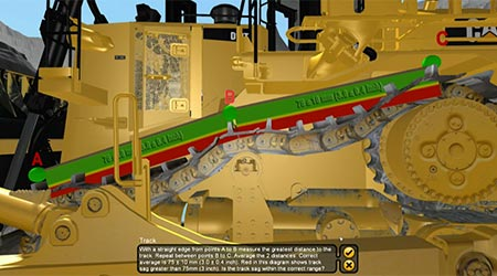 LARGE TRACK TYPE TRACTOR WALKAROUND EXERCISE SAMPLE