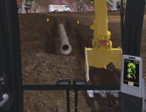 Hydraulic Excavator Trenching