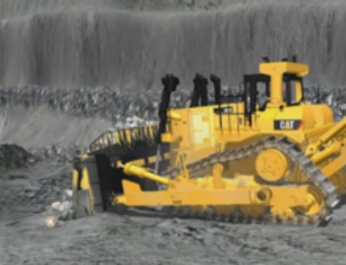 Large Track Type Tractor Slope Maintenance