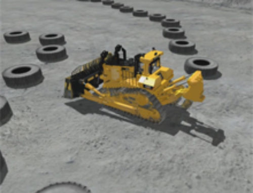 Large Track Type Tractor Tramming