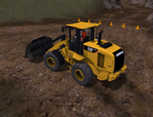 Small Wheel Loader Driving
