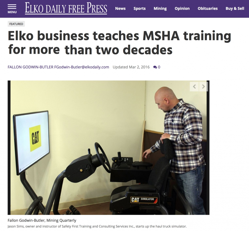 Elko business teaches MSHA training for more than two decades