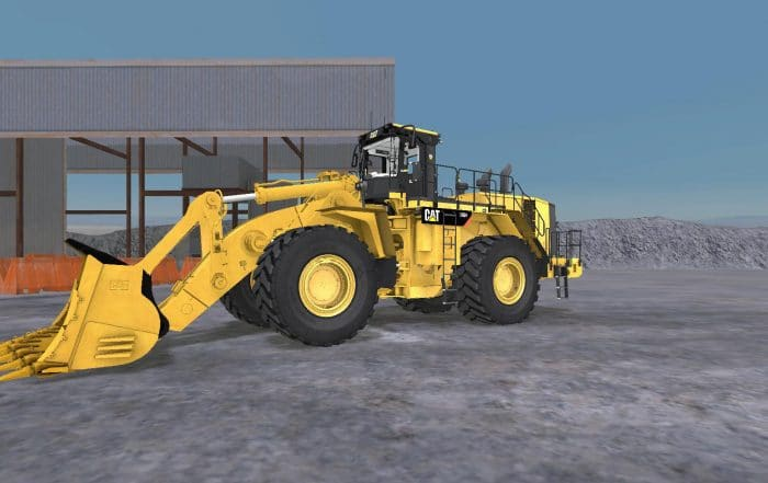New Cat® Large Wheel Loader Simulator System from Simformotion™ LLC Delivers an Authentic Operating Experience