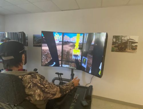 Local high school receives two excavator simulators for construction academy