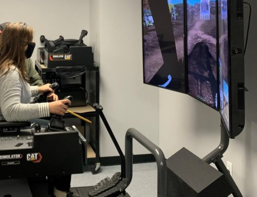 Heavy Equipment Operator Students Gain Confidence of Real-World Skills in Virtual Simulator Training at Collins Career Technical Center